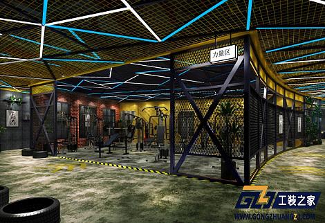 西安工装设计图_西安健身房装修公司-西安印象城瑞力健身房装修设计图|空间 ...