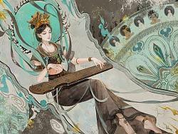 敦煌石壁仙女-洛神