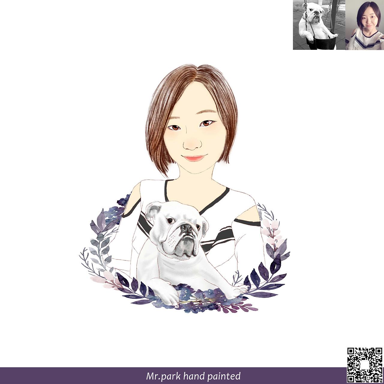 人物肖像/照片转手绘/手绘画像/微信头像/q版漫画