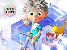 C4D #Frozen dream