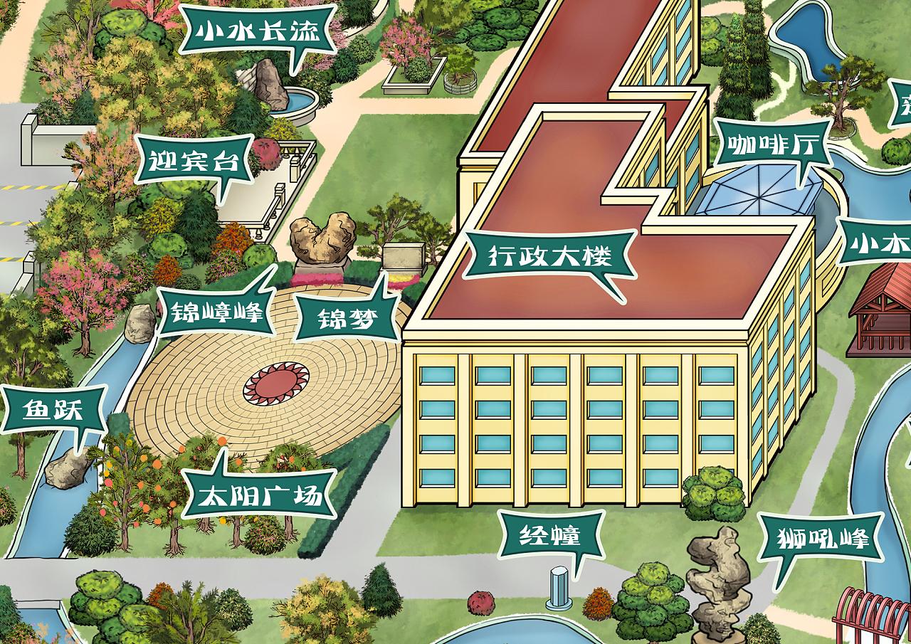 工厂导视手绘地图