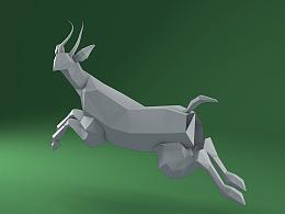 羚羊建模练习