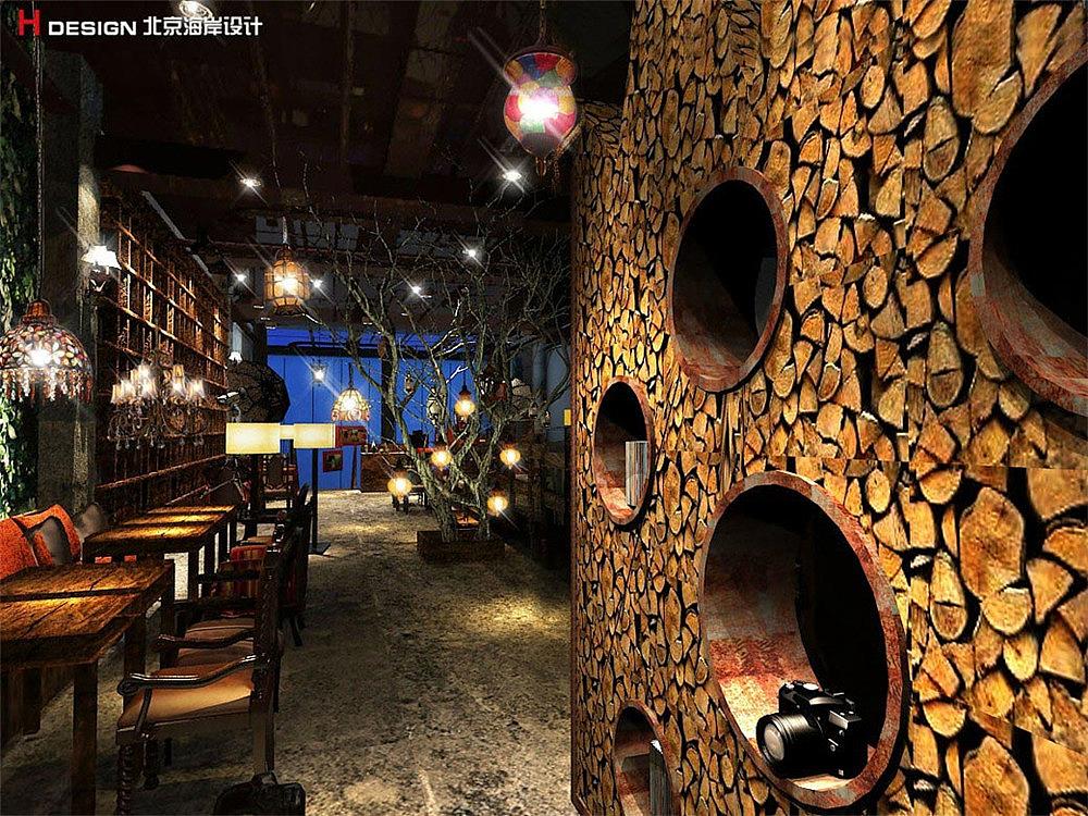 河南商丘杏记案例空间餐饮设计甜点|咖啡|室内设计无纺布袋子设计图片