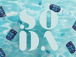 乐简-苏打水包装设计