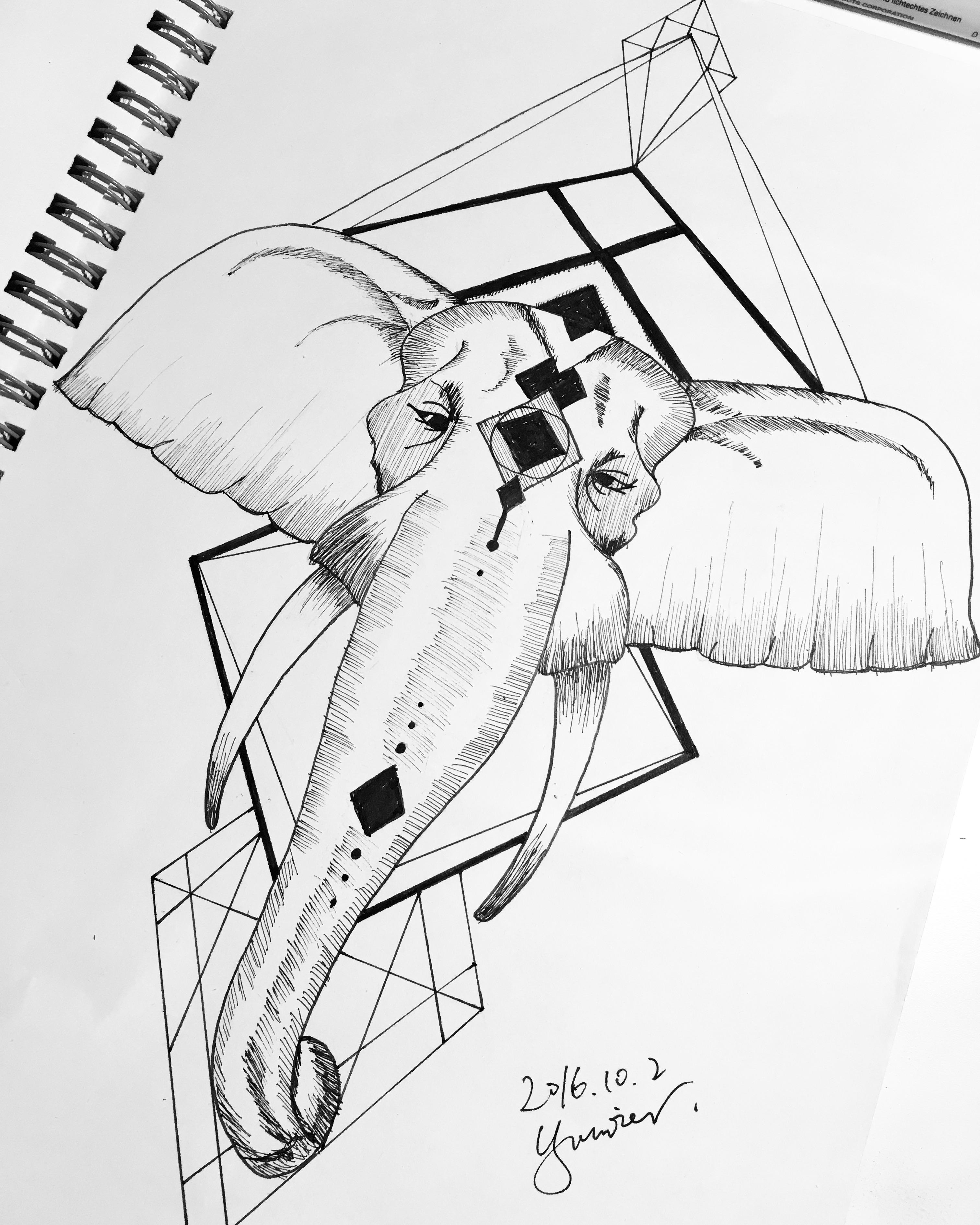 手绘 针管笔