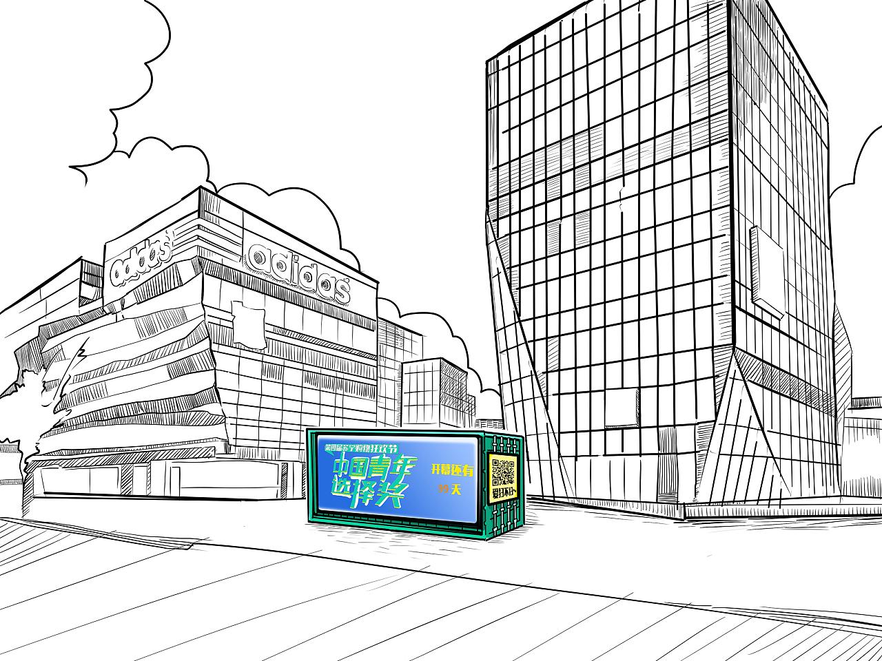 工程图 简笔画 平面图 手绘 线稿 1280_960