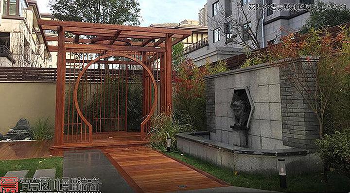 佛山庭院景观绿化_室内庭院水景设计_庭院绿化设计
