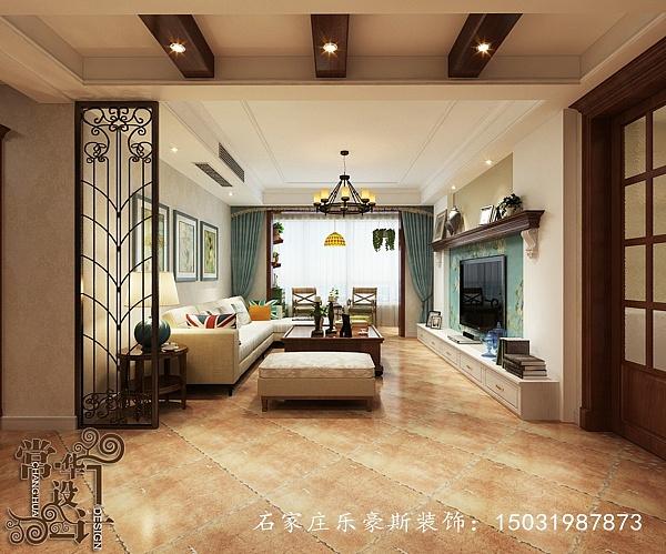 石家庄嘉苑房屋三室两厅138美式风格|小区|空间设计图建房813图片