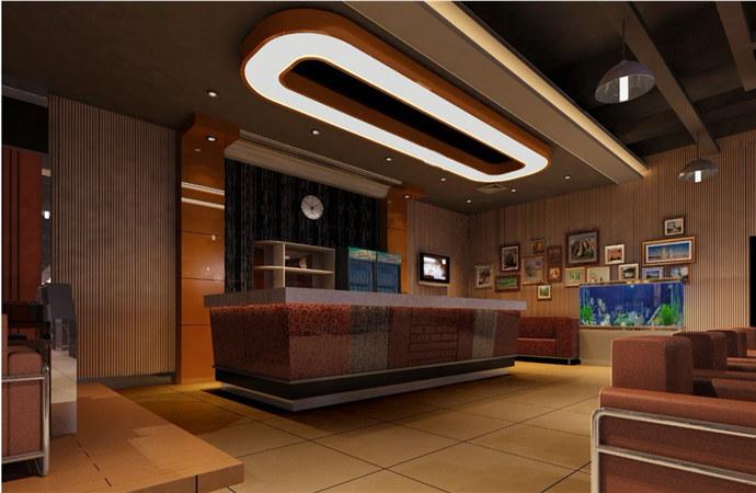 现代简约网吧-乐山网吧装修设计 展示/橱窗/店面设计