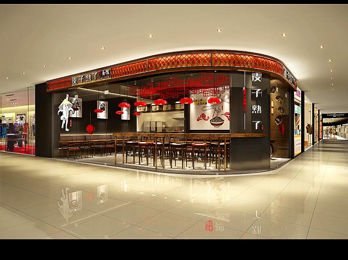 南充连锁餐厅装修设计-麦子熟了川面馆装修设计图片