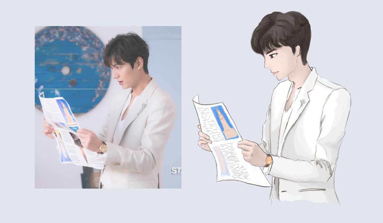 李敏镐卡通手绘