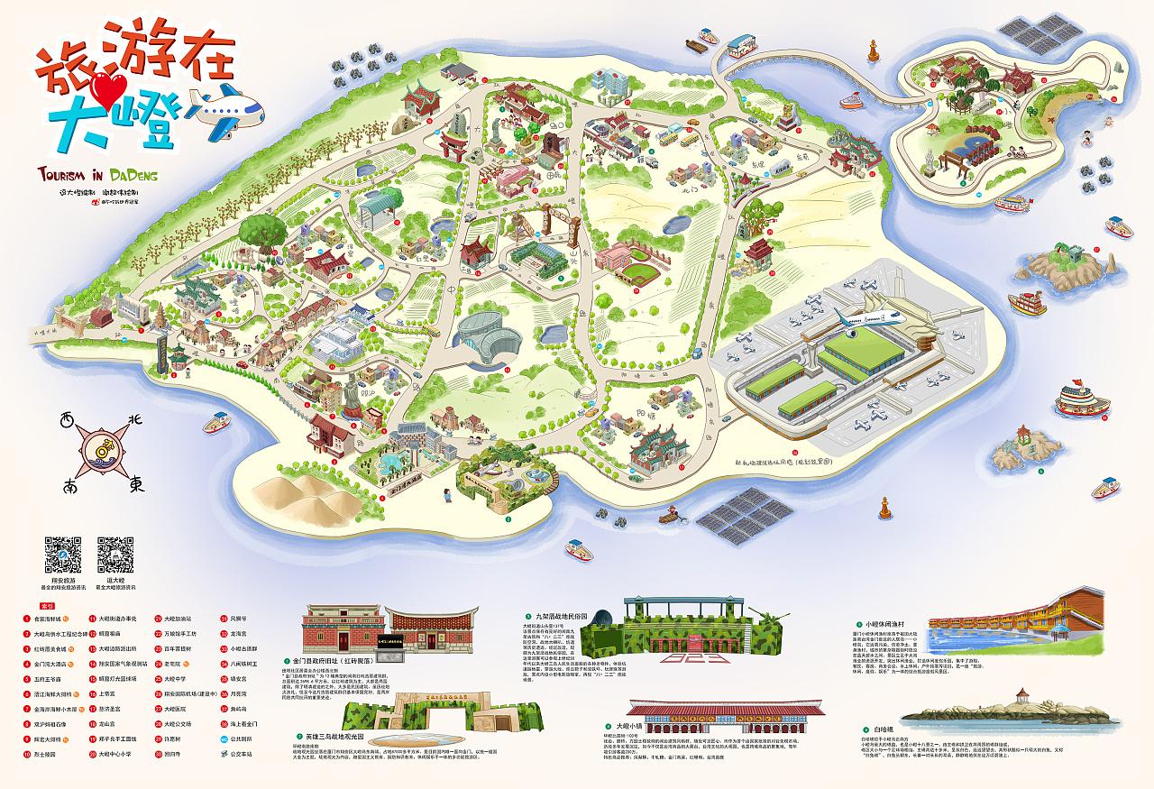 大嶝旅游手绘地图