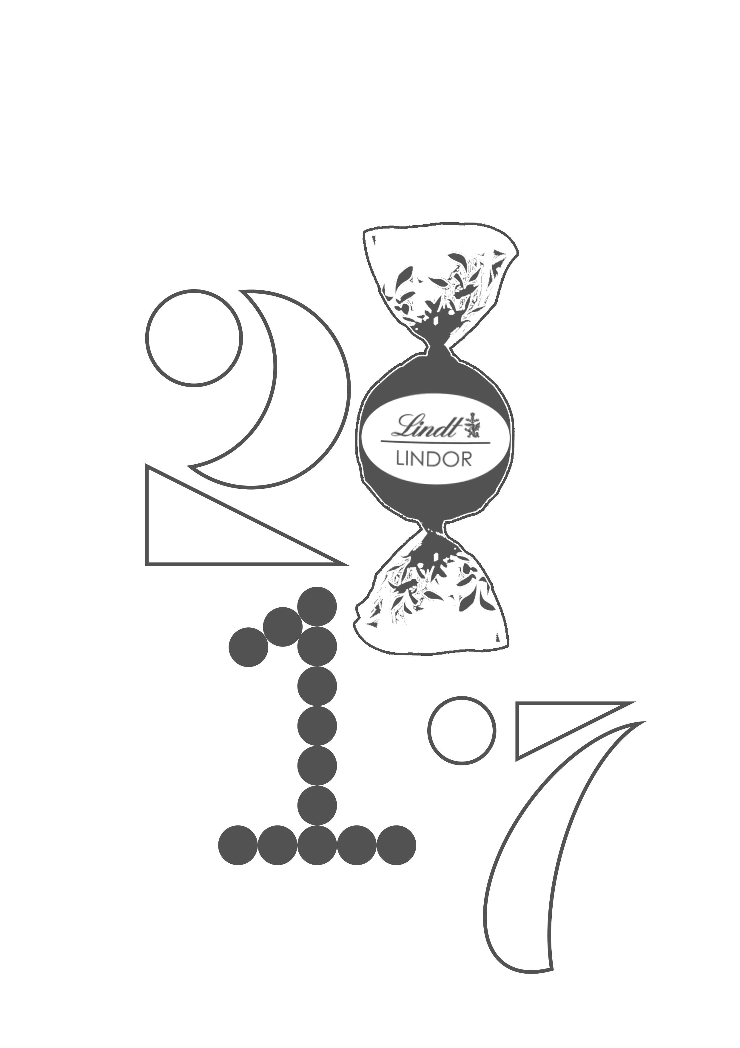 瑞士莲2017新年日历封面设计 2017数字字体设计