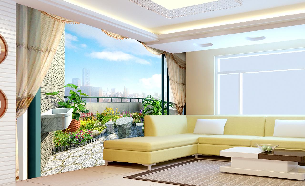 室内墙纸装修效果图,墙面,电视背景,沙发