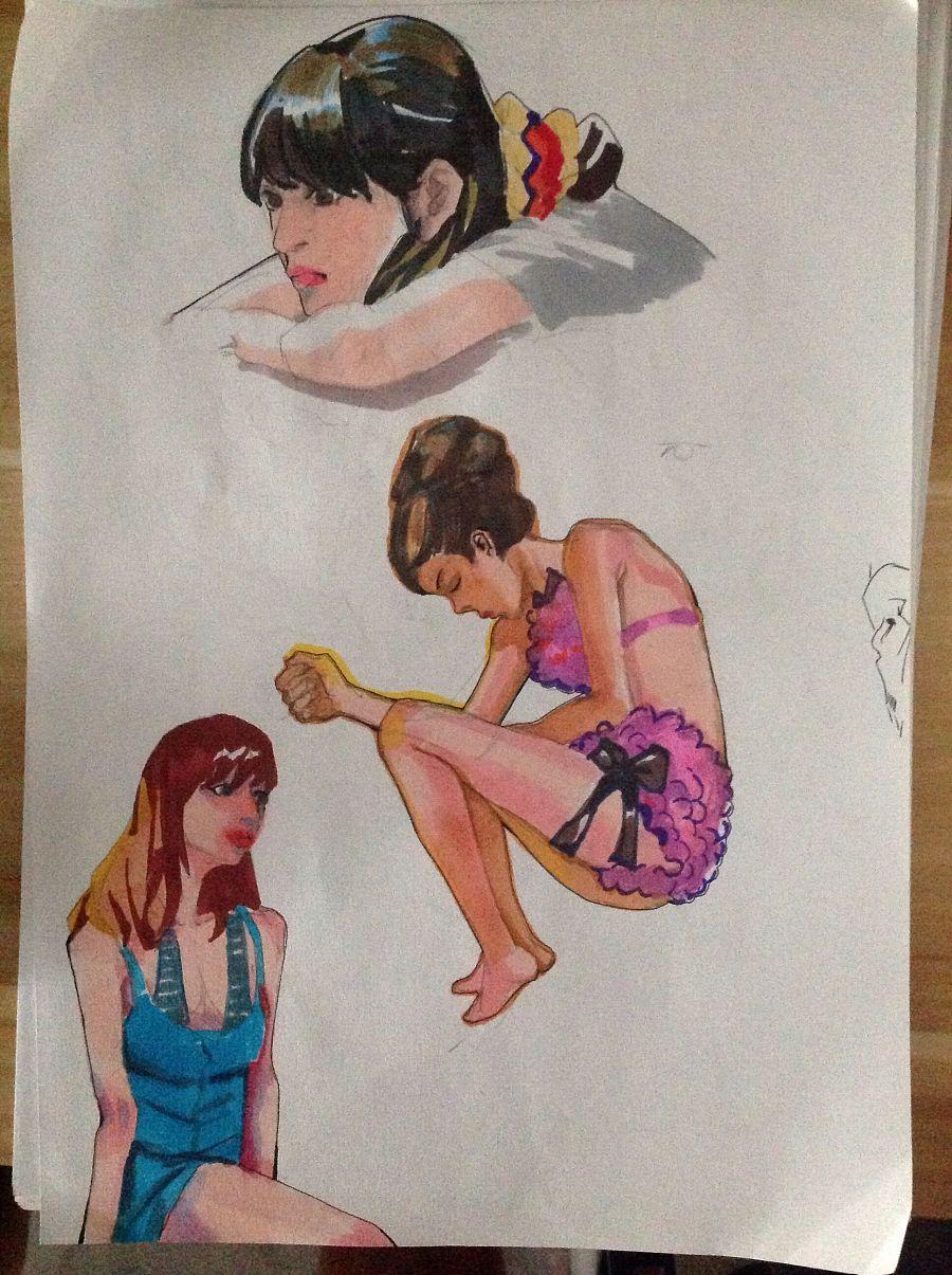 马克笔尝试|绘画习作|插画|lchild图片