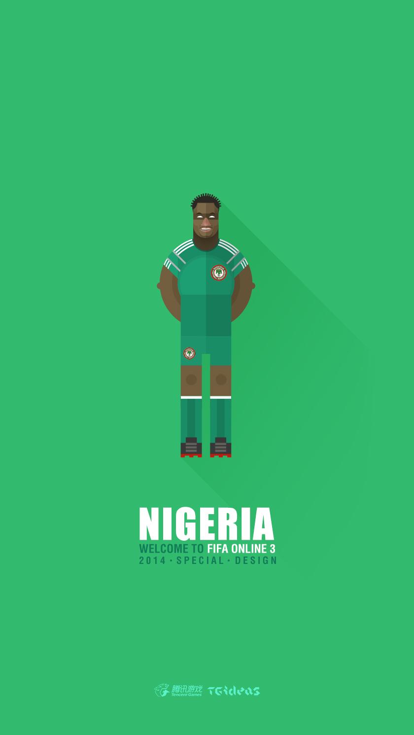 2014巴西世界杯32强群星手机壁纸合集——腾讯游戏