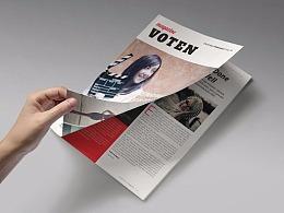 28页商务杂志风格画册模板
