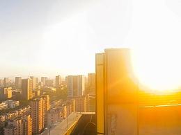 16楼的日落