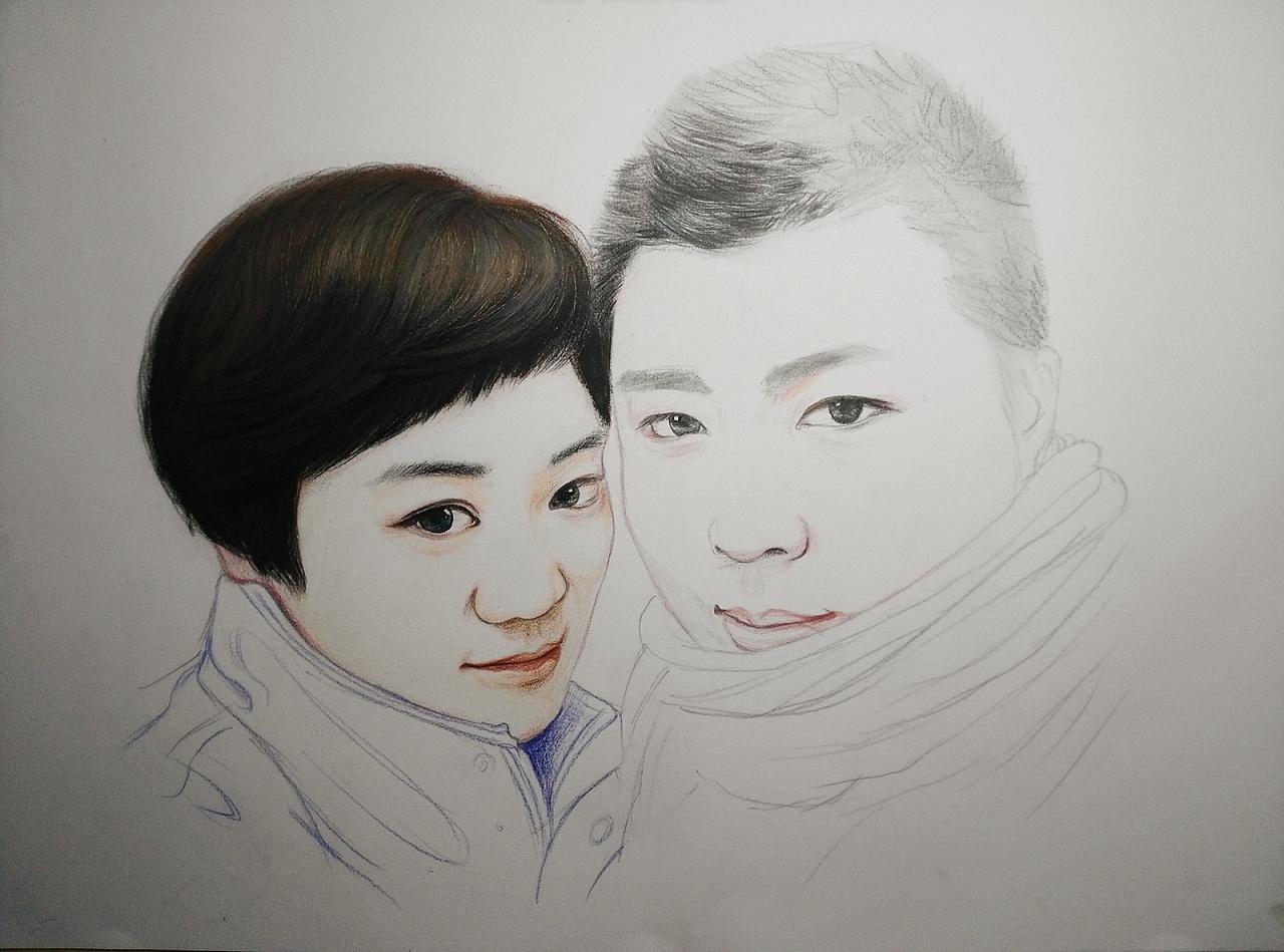 彩铅手绘肖像---叶青(过程)