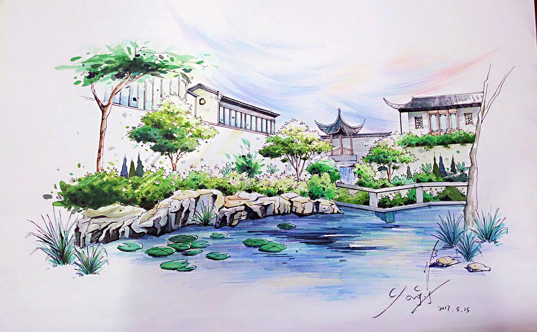 景观手绘|平面|图案|鞠琦peng - 原创作品 - 站酷