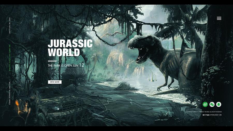 侏罗纪世界|海报|平面|鹅鹅鹅鹅鹅鹅去 - 原创设计