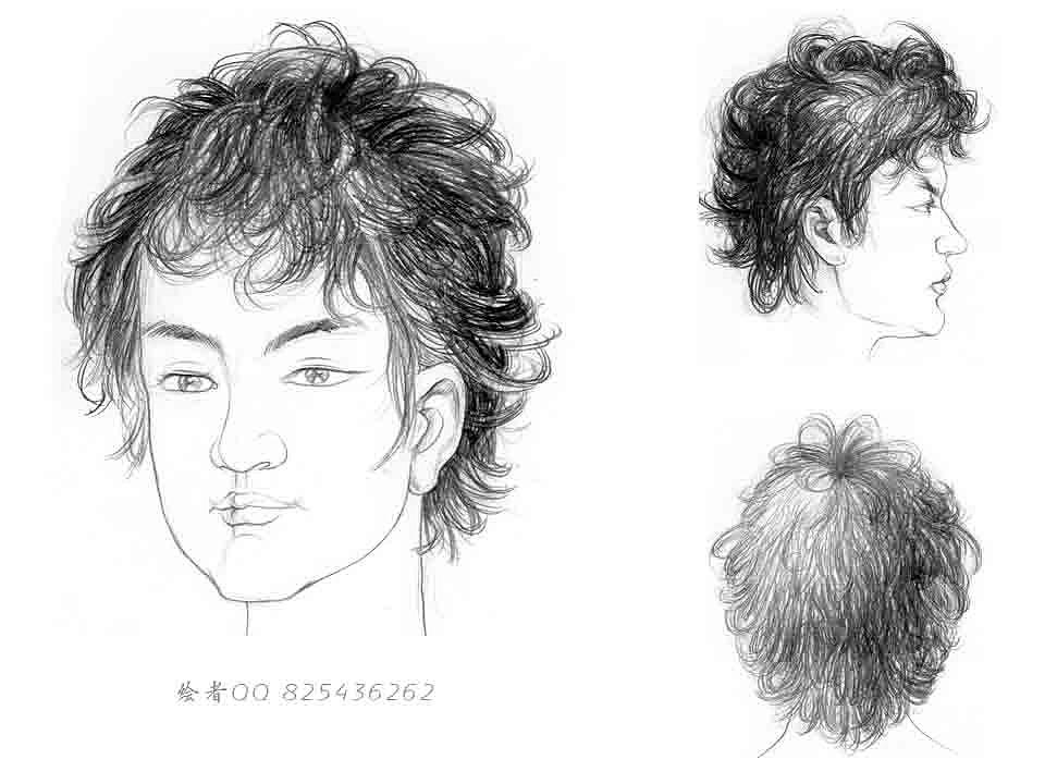 动漫少女手绘发型