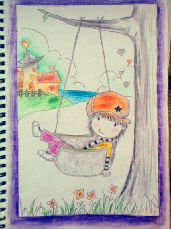 彩色铅笔画