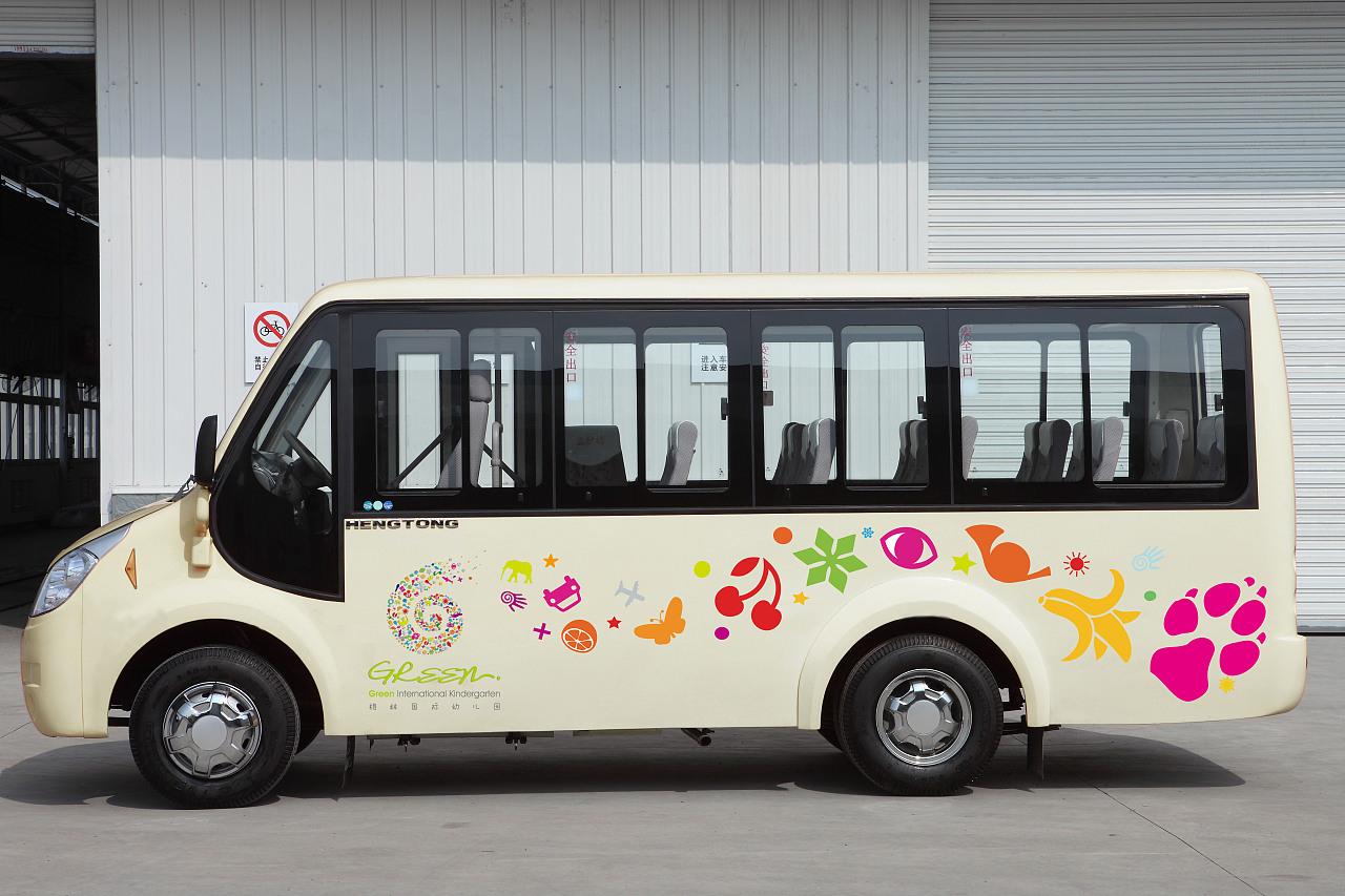 幼儿园手工制作大巴汽车