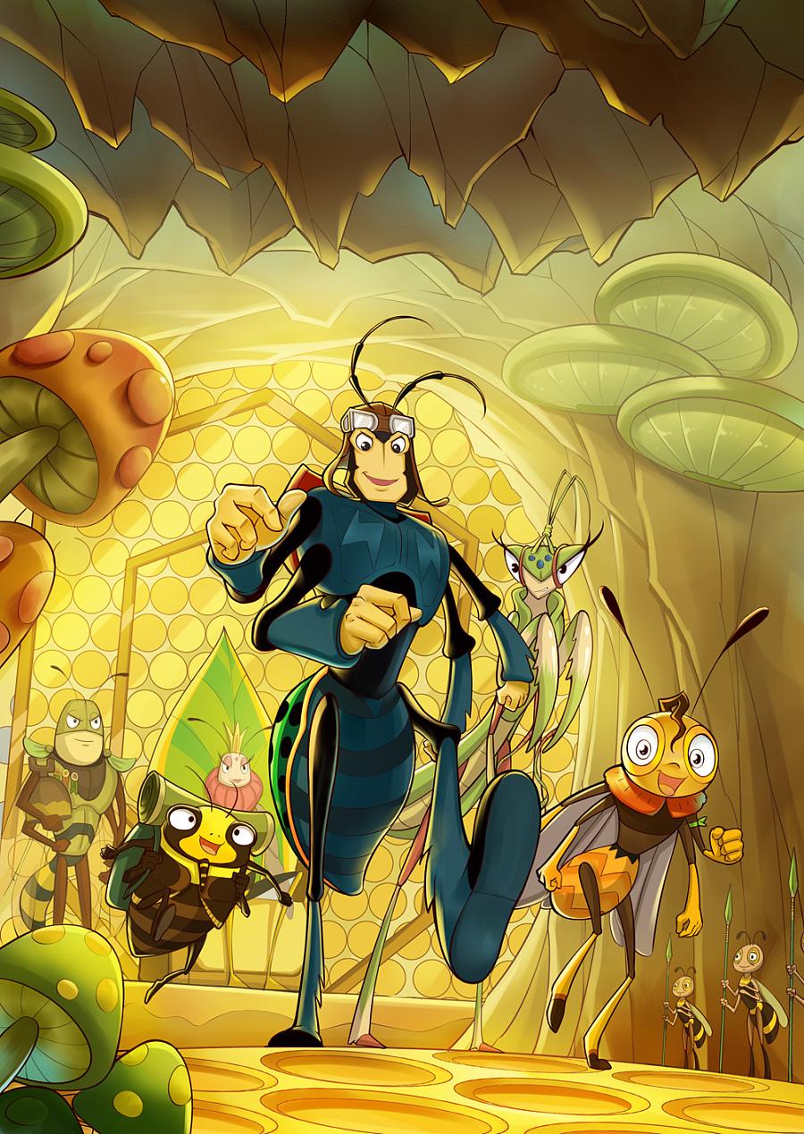 亮点记封面漫画图|||漫画昆虫-原创设计作品-漫画走光暴图片