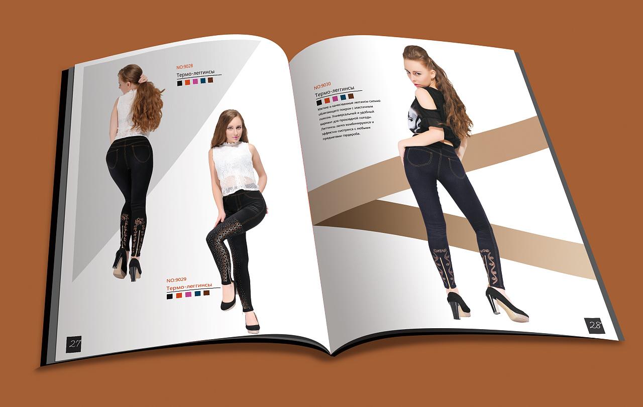 俄罗斯服装画册设计图片