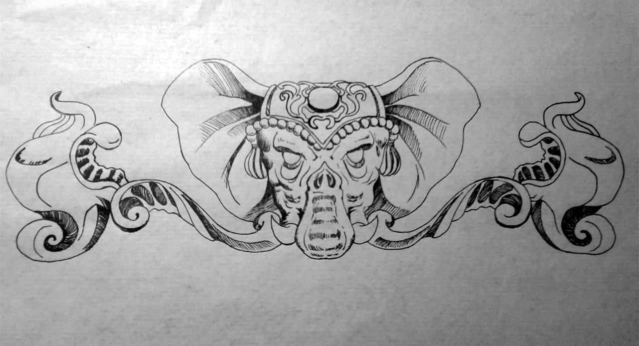 【自绘】纹身图案设计~~|其他|其他|黑羊vinson