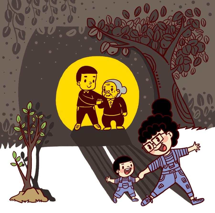 祝所有的妈妈母亲节a妈妈!|单幅漫画|孩子|丁阳打动漫漫画图片