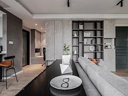 精装房打造黑白灰高逼格的工业风家居环境