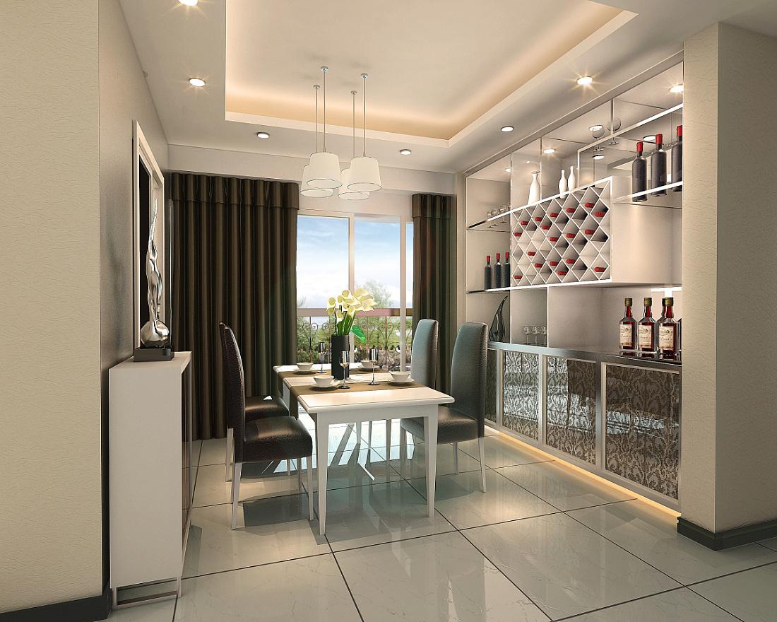 《小户型loft复式公寓》墙剖面3d效果图|空间|室内|李图片