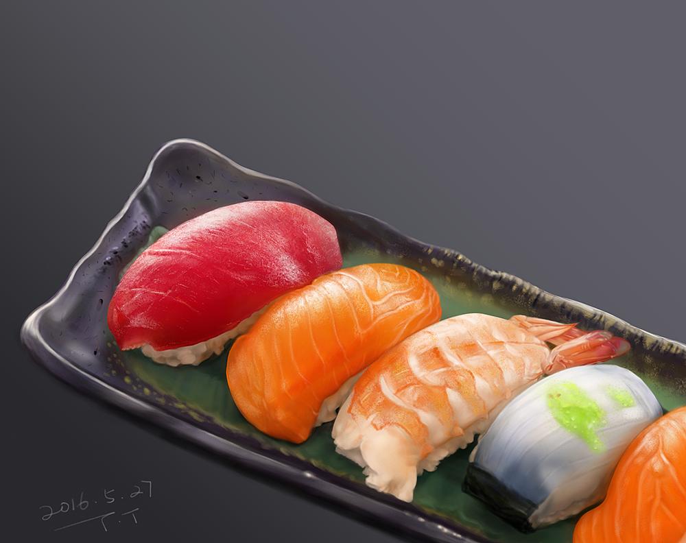寿司手绘练习