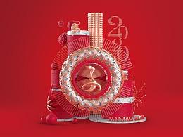 春节广告主形象 海报