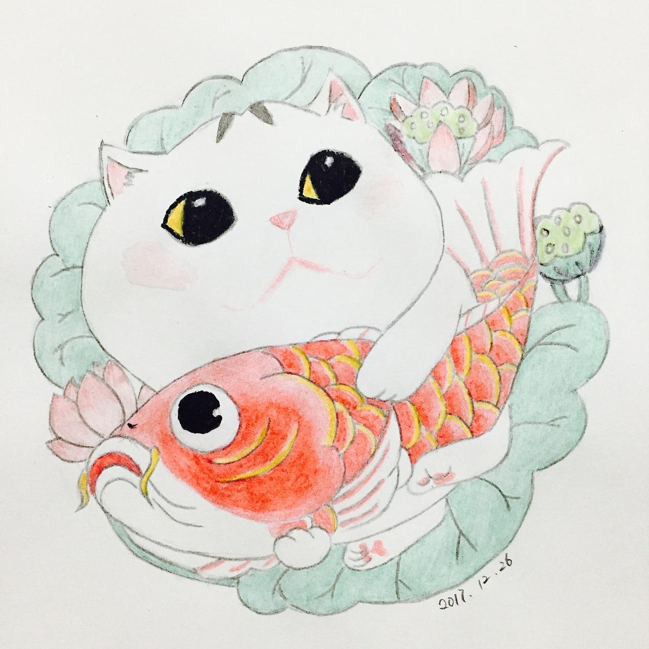 水溶彩铅手绘|插画|儿童插画|大宝蔷薇 - 原创作品