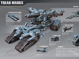 科幻坦克载具