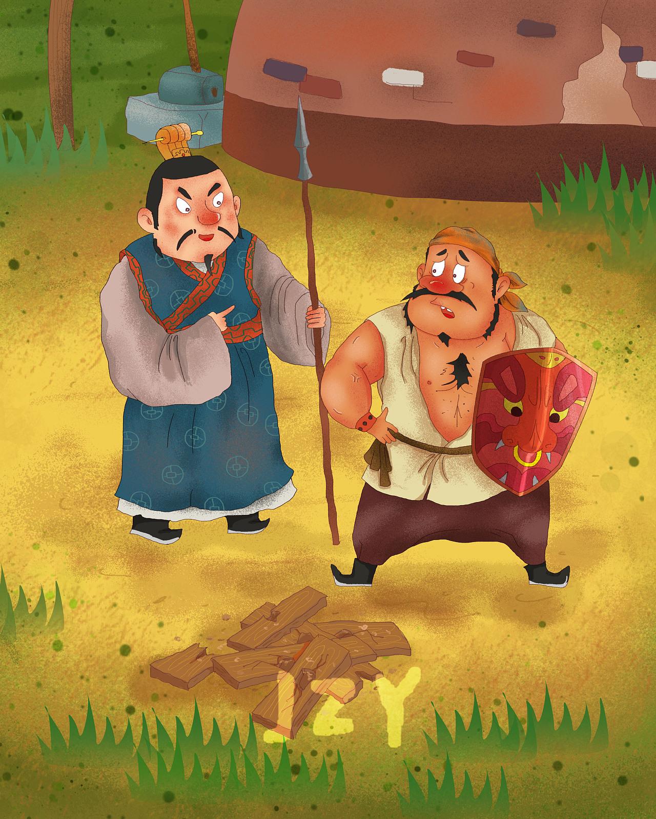 司马光砸缸的故事_凯叔365夜(故事插图)|插画|儿童插画|JZY09 - 原创作品 - 站酷 (ZCOOL)
