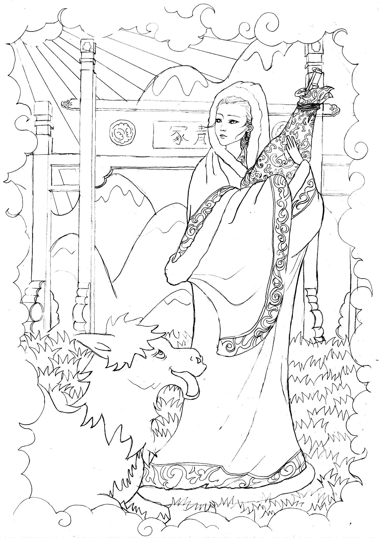王昭君手绘稿