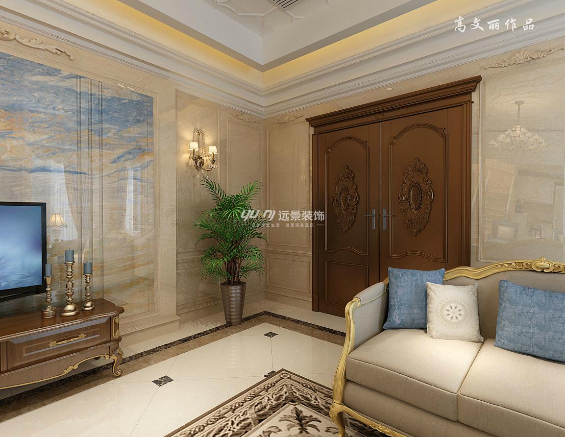 融创爱丽舍庄园别墅装修-欧式混搭风格设计效果图图片