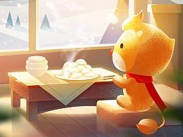 节气插画-冬至
