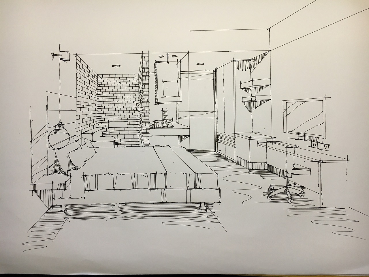 室内手绘线稿