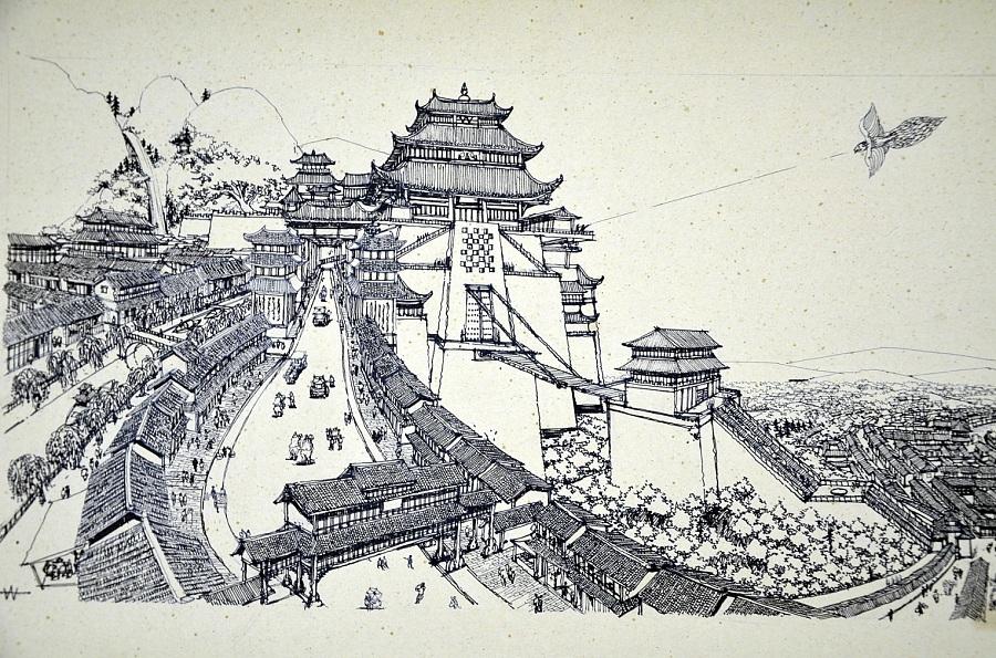 李万海原创手绘古风场景