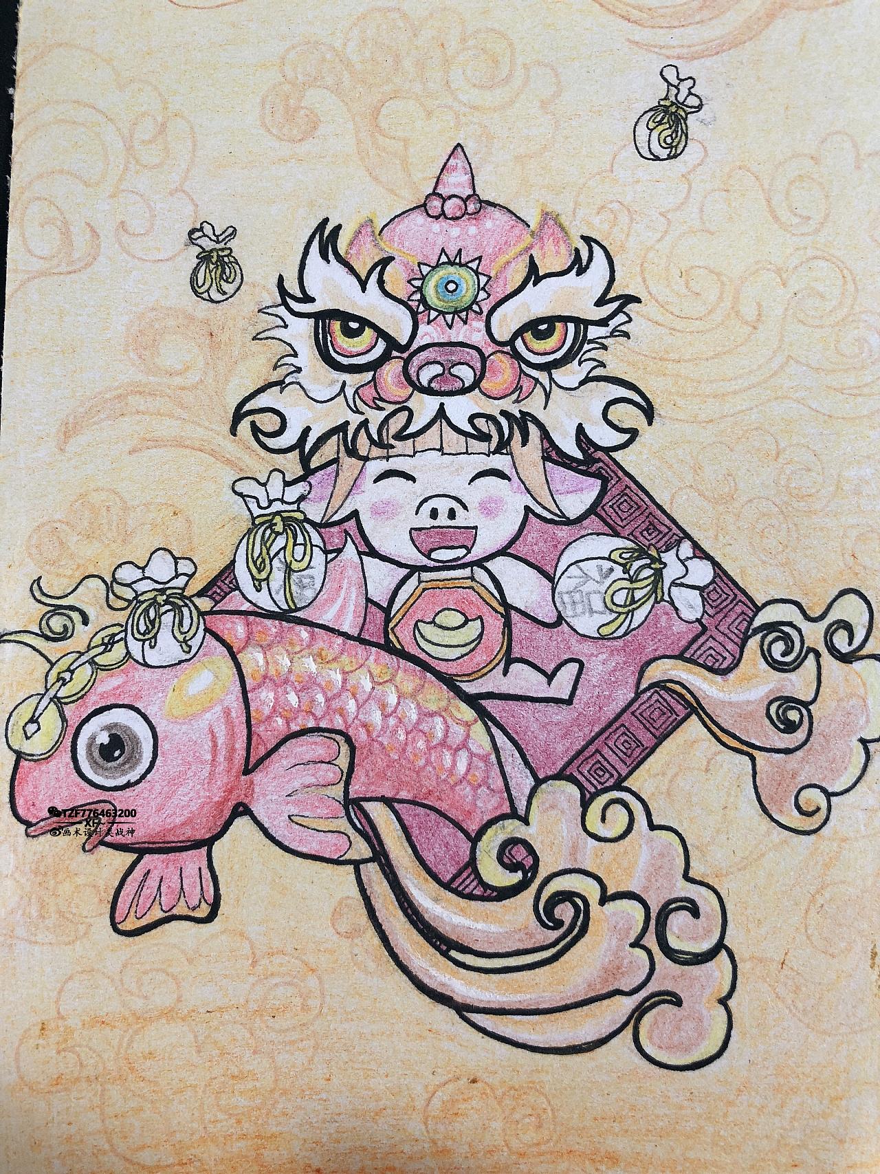 猪年有鱼 - 原创作品 - 站酷(zcool)图片