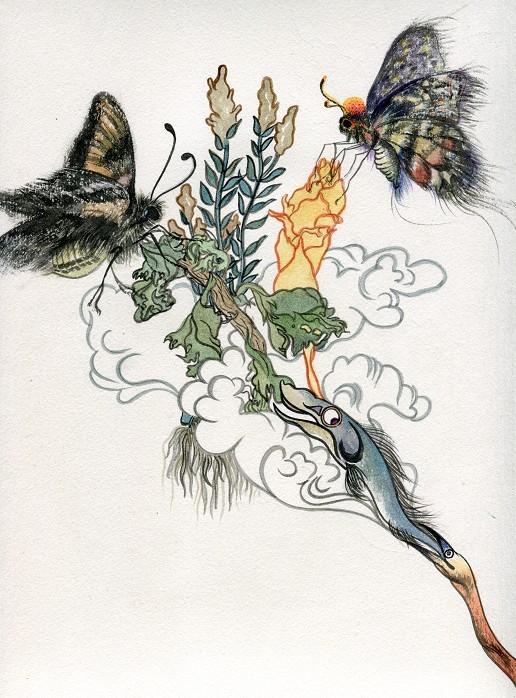 手绘封面插画(最新作)||插画|墨水童话