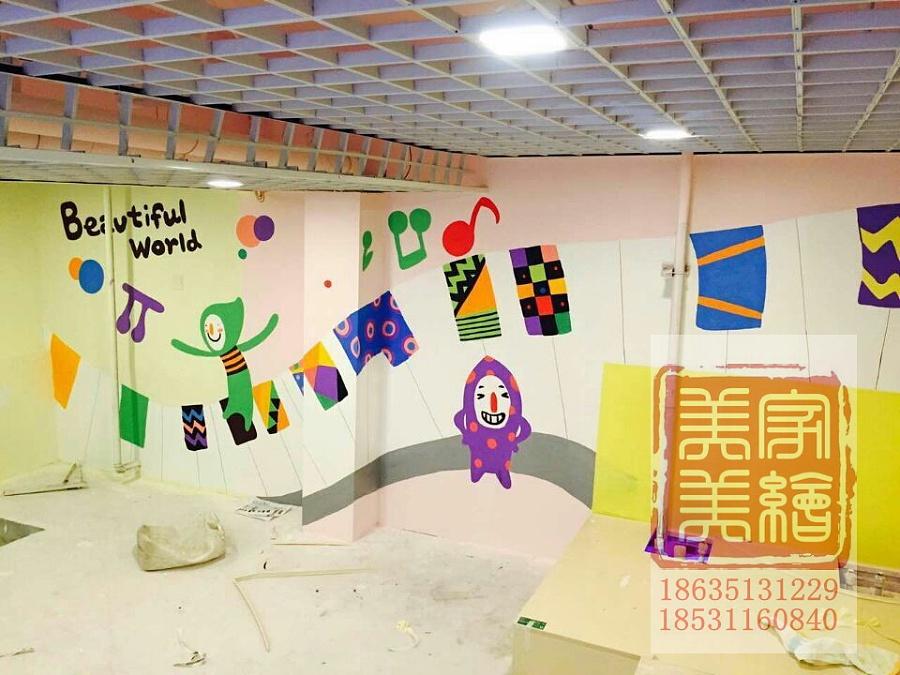 太原幼儿园墙体彩绘墙绘手绘作品欣赏