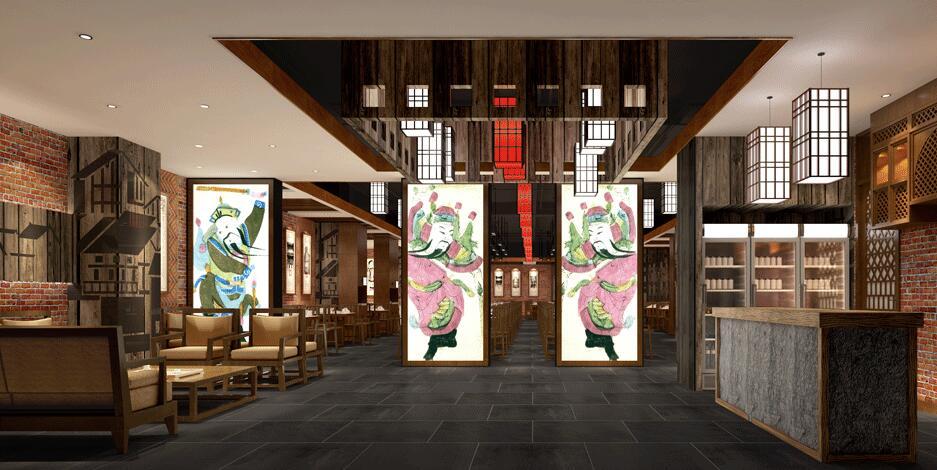 《川行记火锅店设计》——成都川西坝子火锅店装修设计公司|成都专业图片