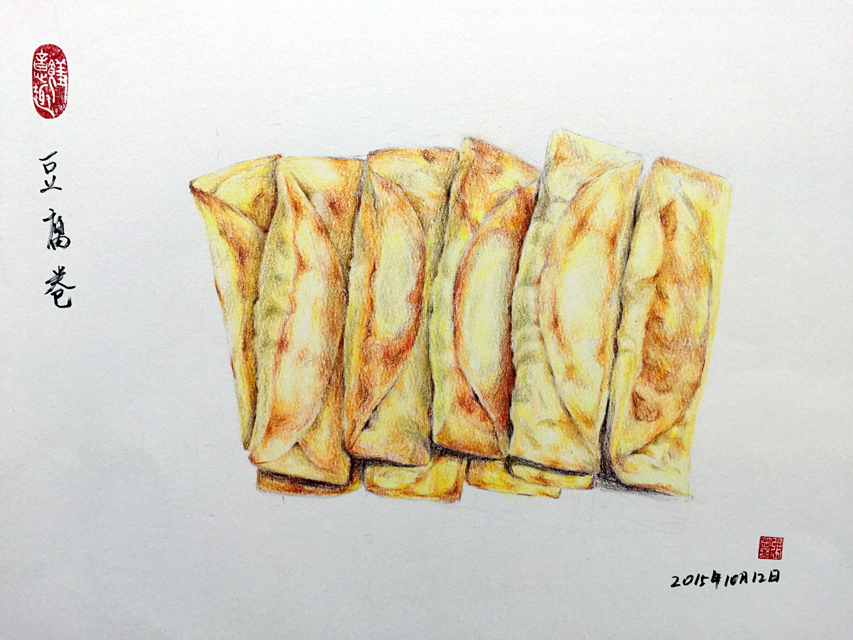 彩铅手绘小吃系列(全集)