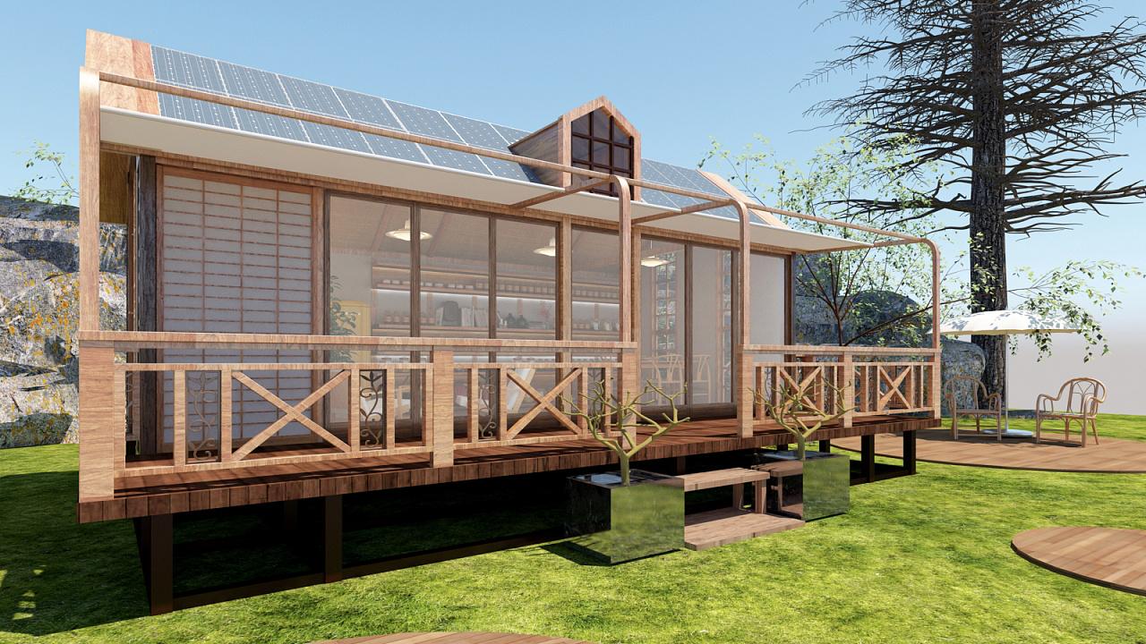 屋�_日式风格的小型度假屋|空间|室内设计|rohenry - 原创